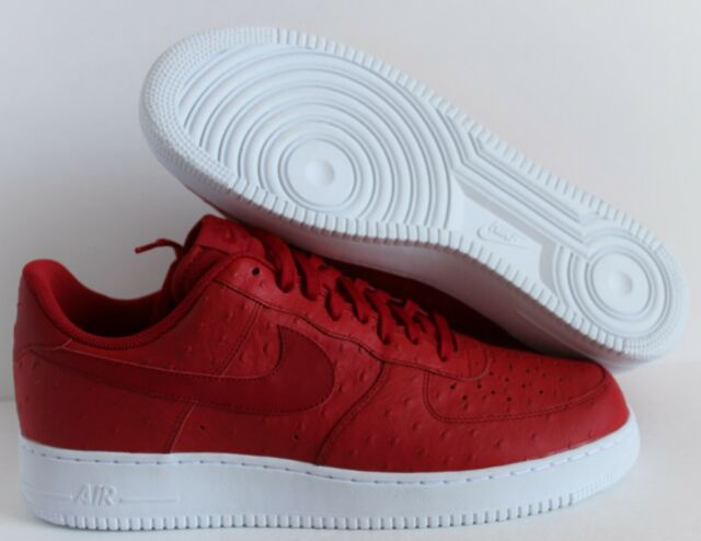 newest cdbe1 54525 Nike Air Force 1 '07 Lv8 Ostrich Mens 718152-603 Gym Red White Shoes ...