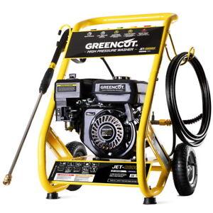 Hidrolimpiadora motor gasolina 8cv 160BAR 2321PSI alta presion -GREENCUT