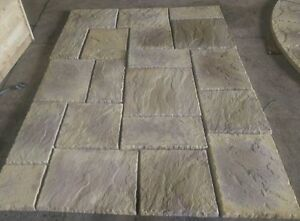 Image Is Loading York Stone Effect Concrete Slabs Buff