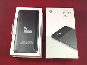 BRAND NEW Google Pixel 2 XL 128GB Just Black Verizon Unlocked Smartphone