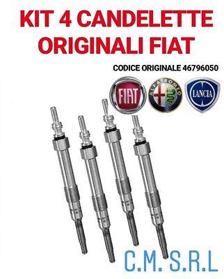 FIAT 46796050 4 Candelette FIAT 500 1.3 Multijet 55 Kw