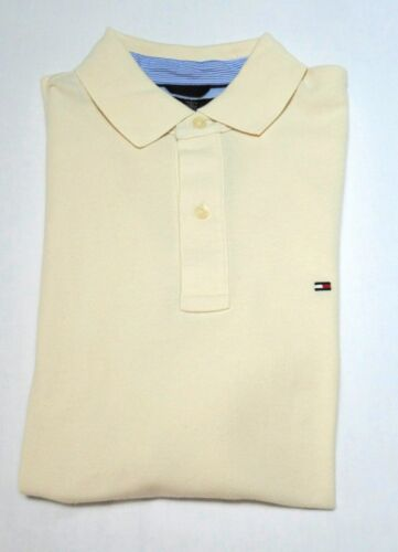 TOMMY HILFIGER Men/'s New Mesh Polo Shirt Classic Fit ivory size Medium
