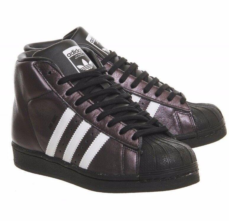 Nuovo di Zecca Adidas Originals Pro modello Lucido Nero Bianco Hi