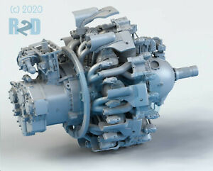 1-32-Detailed-High-Resolution-3D-Printed-Resin-R-2800-Radial-Engine-Kit