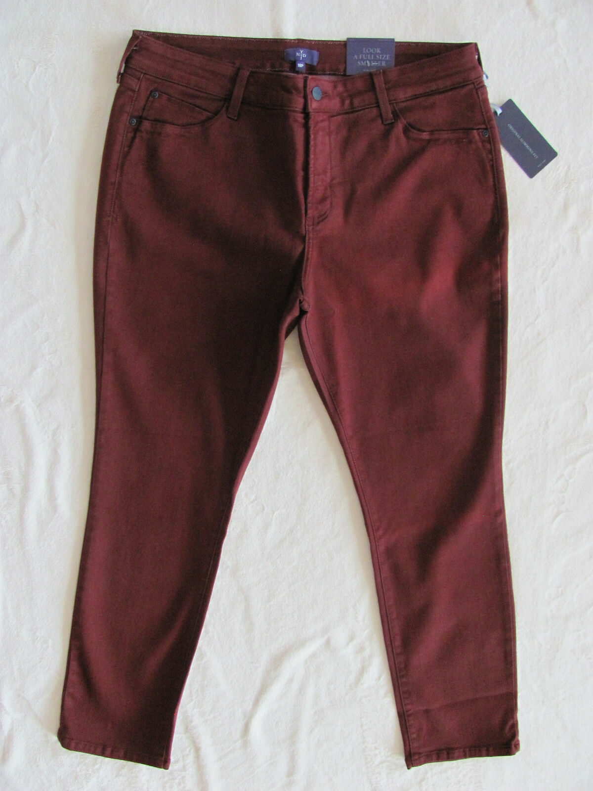 NYDJ Not Your Daughter's Jeans Alina Skinny Jean Legging- Oxblood-Size 18P-NWT
