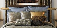 Two 2 Candice Olson Mirage Blue Euro Pillow Shams $140