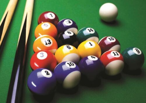 PHOTOGRAPH SPORT LIESURE AMERICAN POOL TABLE BALLS ART PRINT POSTER GIFT GZ5762
