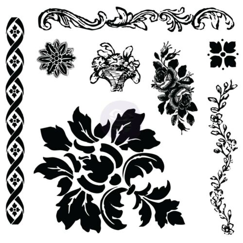 Prima Iron Orchid Desgins Clear Acrylic Decor Stamps  Fleur 814342