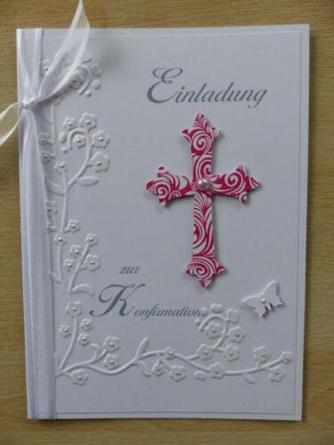 Einladung zur Konfirmation Karte Einadungskarte Gastgeschenke Mandeln