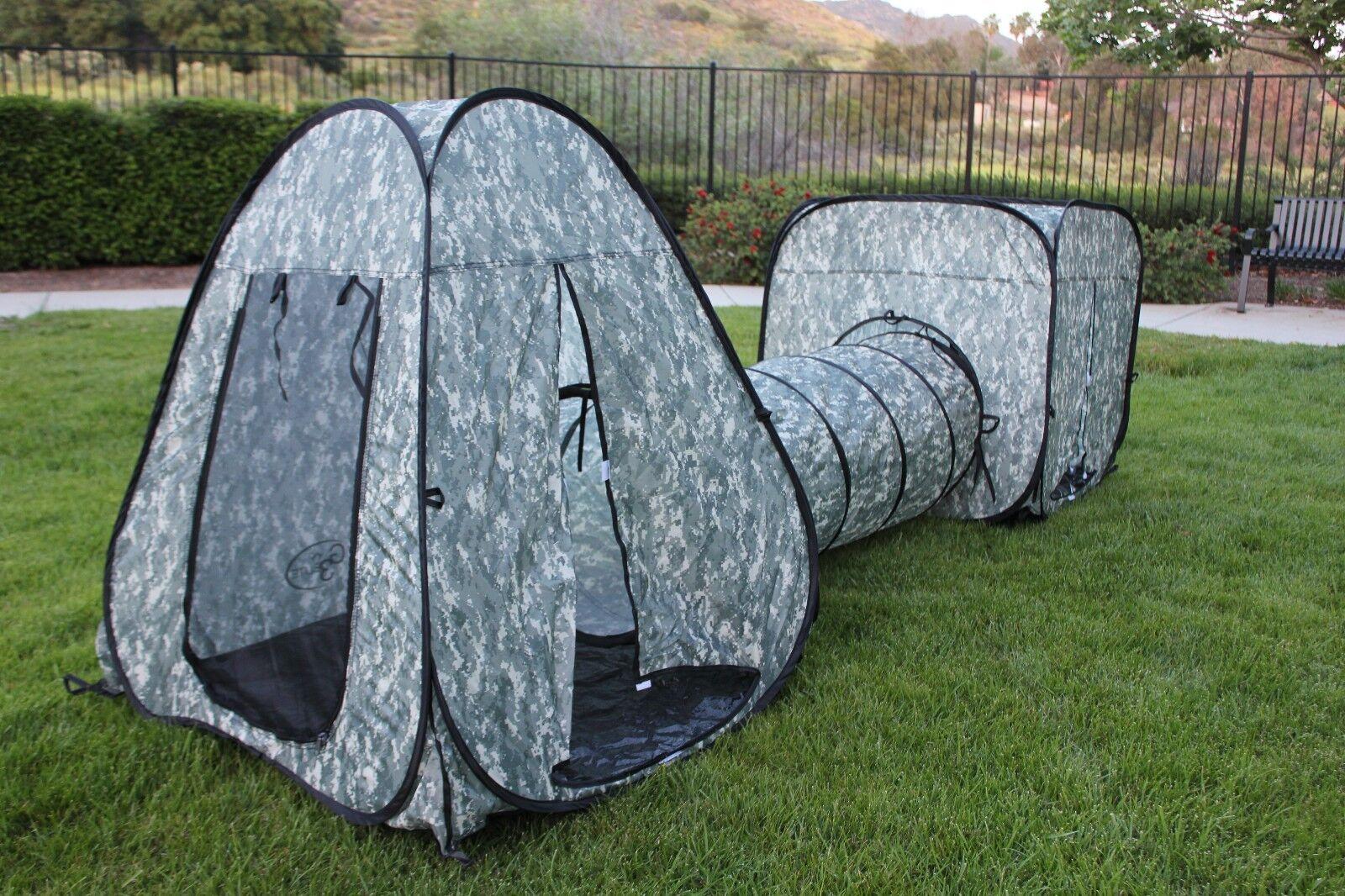 G3Elite  Kids Play Tent 3 Piece Pop Up Play Set, Outdoor Indoor, Boys Girls  convenient