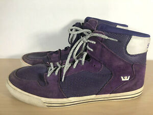 259973e55679 Image is loading SUPRA-VAIDER-PURPLE-WHITE-08044-501-SKATE-SHOES-