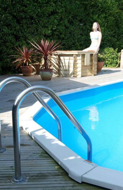 DELUXE STAINLESS STEEL SWIMMING POOL DECK LADDER