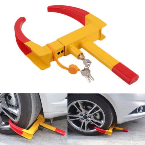 UK HEAVY DUTY CAR AUTO TRAILER CARAVAN WHEEL CLAMP SECURITY LOCK TOOL WITH KEYS