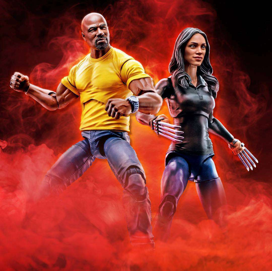 (No Box)100% Hasbro Marvel Legends 10th 6  Luke Cage & Claire Temple 2PK NEW