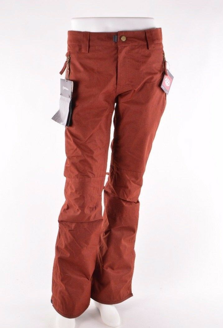 2018 NWT WOMENS 686 AFTER DARK SNOWBOARD PANTS  200 S rusty red
