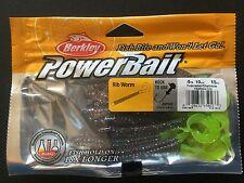 "Berkley,Power Bait,Rib Worm,4"",15/Pkg,Firecracker/Chart,#PBBRW4-FCH"
