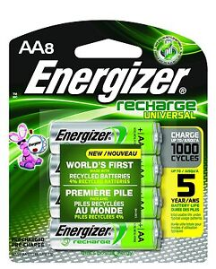 Best Rechargeable Batteries 2021 AA8 AA Energizer Universal Rechargeable NiMH Batteries EXP 2021 (8
