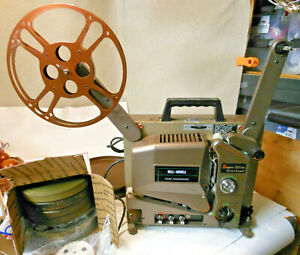 Bell-amp-Howell-Filmosound-Model-3580-Vintage-16mm-W-Audio-Projector-1950-039-s-reels