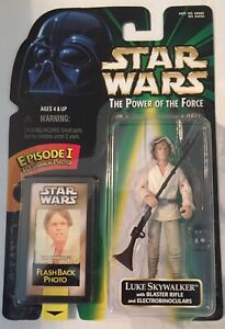 STAR-WARS-LUKE-SKYWALKER-TATOOINE-fusil-Power-of-the-Force-2-Flashback-action-figure-1998-NEW