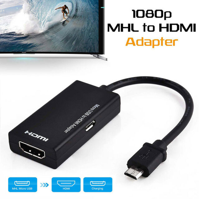Mini USB Male to HDMI Female Adapter Cable for Android Smartphone Tablet  NJ