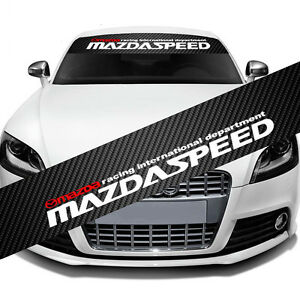 MAZDASPEED-Windshield-Carbon-Fiber-Vinyl-Banner-Decal-Sticker-4-Mazda-Speed