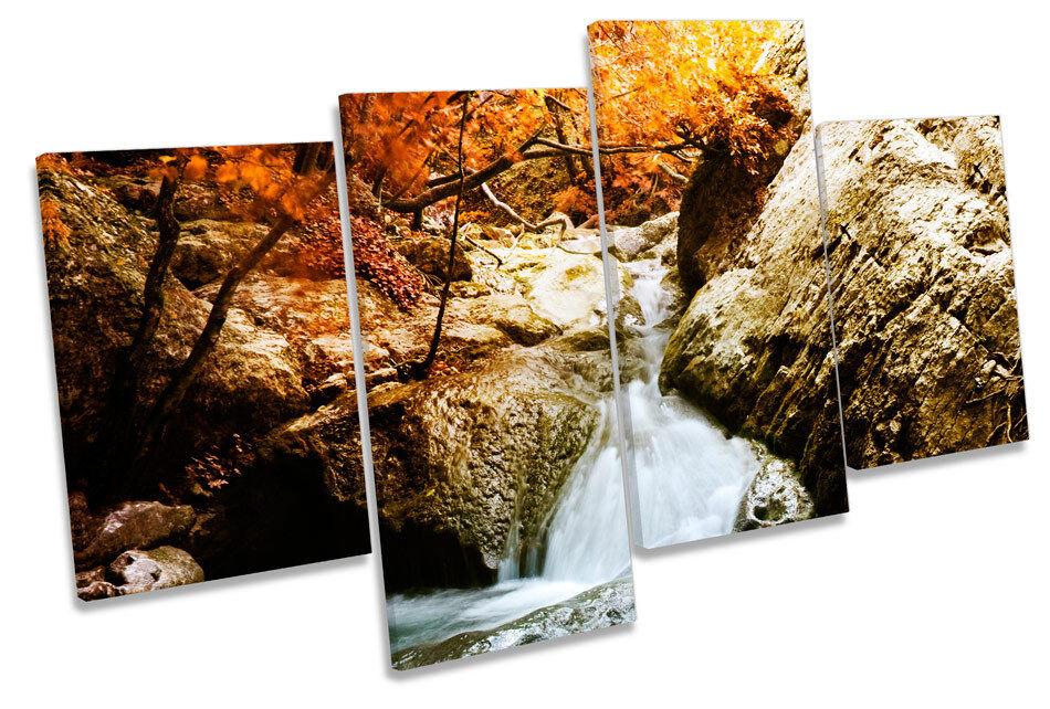 Foresta CASCATA FIUME paesaggi Multi Canvas Wall Art incorniciato stampa stampa stampa 9e8720
