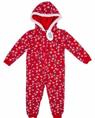 Peppa Pig Baby Girls Red Christmas Snowflake  All in One Age 9 12 18 24 Months