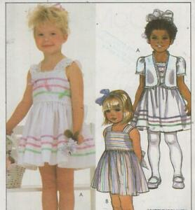 Toddlers-Sundress-and-Jacket-Sewing-Pattern-Size-1-2-3-McCalls-8644