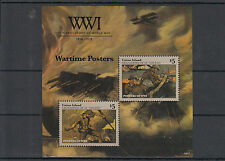 Union Island Grenadines St Vincent 2014 MNH WWI Wartime Posters 2v S/S Stamps