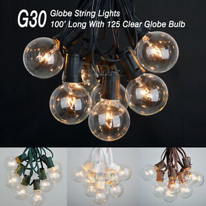 Image Is Loading 100 Ft G30 Outdoor Patio Globe String Lights