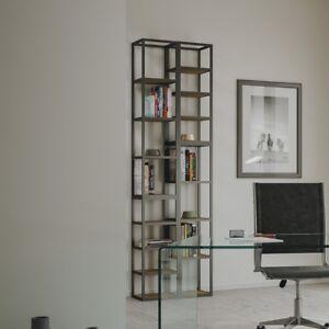 Librerie In Metallo Componibili.Libreria Colonna In Metallo Componibile Con Mensole Legno Linea