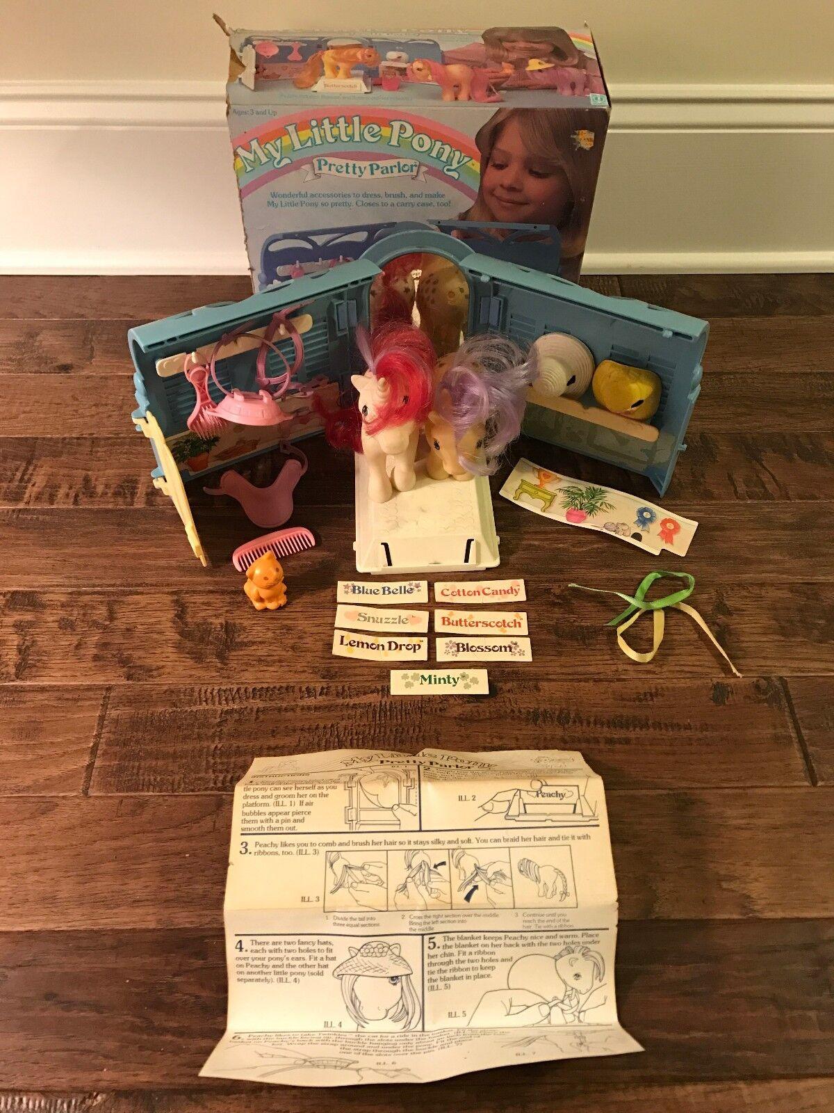 1983 Vintage Hasbro  MY LITTLE PONY    (PRETTY PARLOR) Playset, With Ponies, RARE  9de300