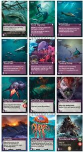 Oceans-The-Deep-Trait-Promo-Pack-1-amp-2-Cards-Foil-Kickstarter-Board-Game-NEW