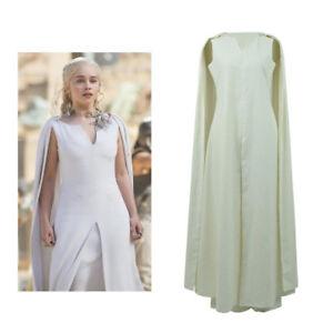 Game Of Thrones Weisses Kleid Und Umhang Von Daenerys Targaryen