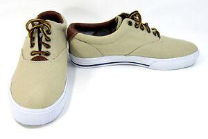 Vaughn Chaussures kaki Taille Athletic Lauren Canvas 7 Sneakers Polo Marron 5 Ralph tqw4U