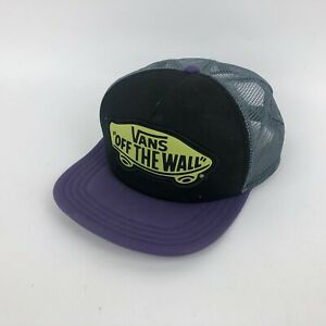 f61b6538 VANS Off The Wall Black Purple - Gray Mesh Foam Trucker Hat Cap | eBay
