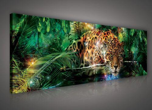 145x45cm leopard des bois de forêt jungle bedroo pp559o3 Toile photo imprimé