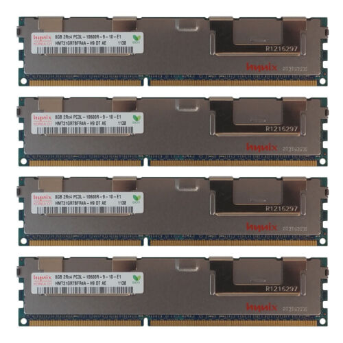 32GB Kit 4X 8GB DELL POWEREDGE M520 M620 M610x M820 M915 R415 C6220 Memory Ram