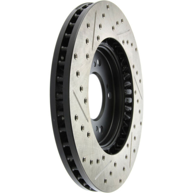 Disc Brake Rotor-Sport Drilled/Slotted Disc Front Left