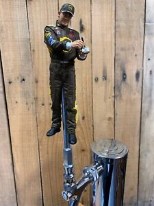 NASCAR-TAP-HANDLE-Dale-Jarrett-BEER-KEG-UPS-Driver-Brown-Suit-Ford-Coke