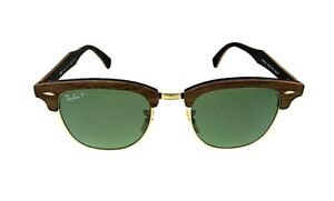 New-Authentic-Ray-Ban-Clubmaster-Wood-Polarized-Sunglasses-RB3016M-118158