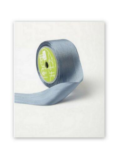 """gray 3 yds May Arts BLUE GREY Silk Ribbon 1.25/"""" wide"""