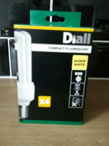 Diial E27 X 4 Compact Fluorescent Light 630 Lumen new warm white A rated