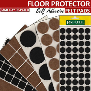 Image Is Loading HEAVY DUTY FELT PADS ANTI SKID FURNITURE PROTECTOR