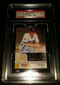 2009 U.D. USA Baseball 18U #28- Kevin Gausman Auto Jersey RC /899! PSA 9!