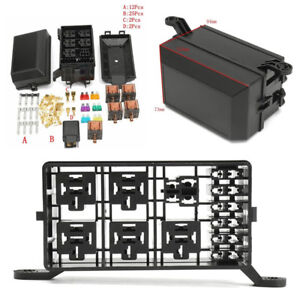 high quality car off road fuse box 6 relay socket holder 5 road rh ebay com Circuit Breaker Box Knob and Tube Wiring