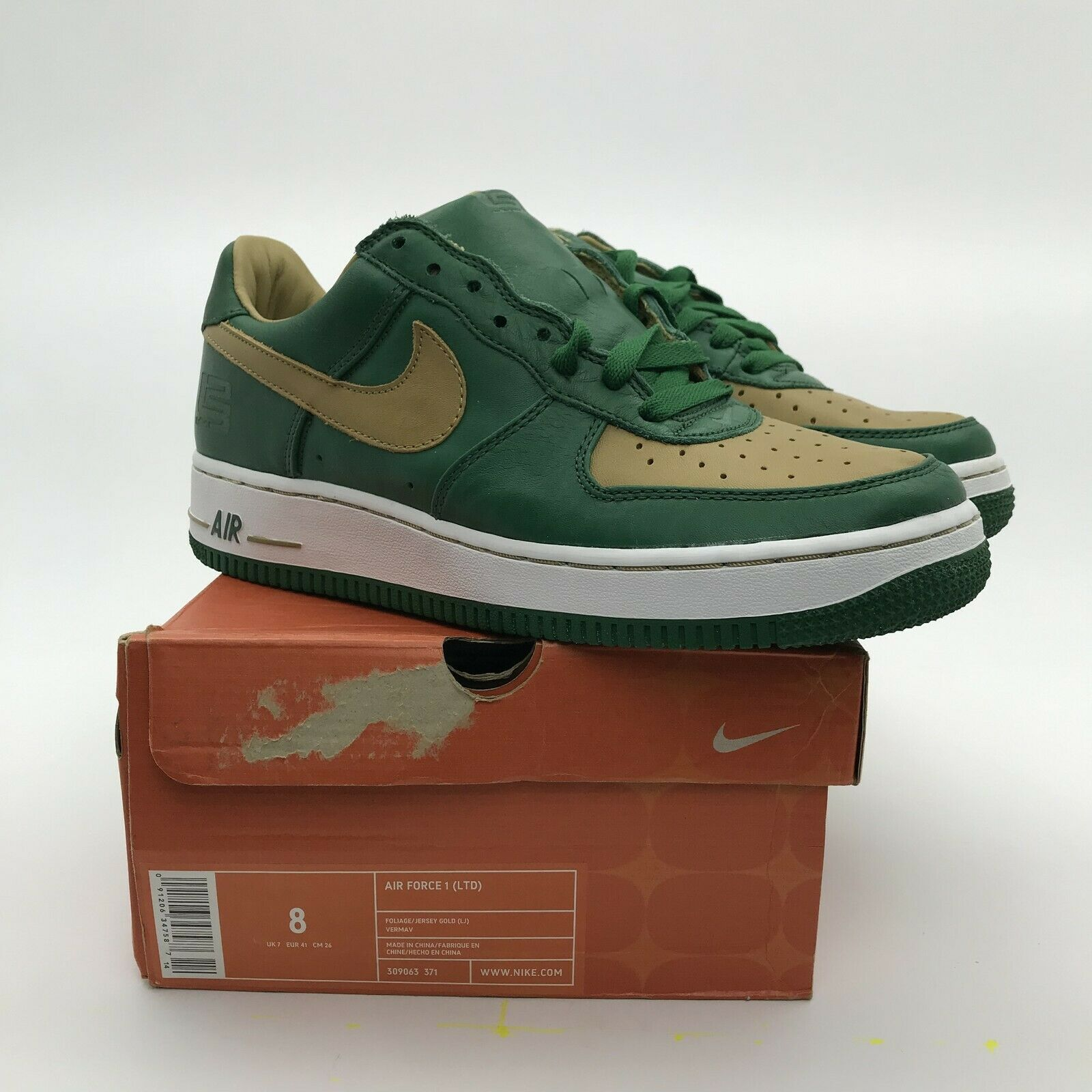 2003 Nike Air Force 1 Low LIMITED Lebron James  SVSM  309063-371 Men NEW US 8