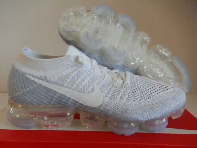 new concept e72a3 b7067 Nike Air Vapormax Flyknit ID Size 9.5 Light Grey White Photo Blue Limited