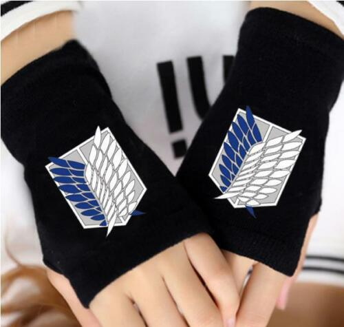Cosplay Shingeki no Kyojin Attack on Titan Anime Handschuhe fingerlos glove