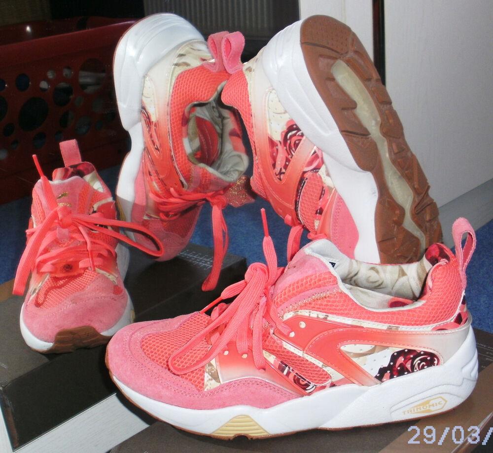 Nouveau Puma Blaze of Glory X careaux Graphic Sneaker Chaussures De Course Trinomic, taille 38-